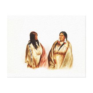 Women of Snake & Cree Tribes - Karl Bodmer Canvas Print