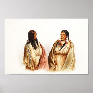 Women of Snake & Cree Tribes - Karl Bodmer Print