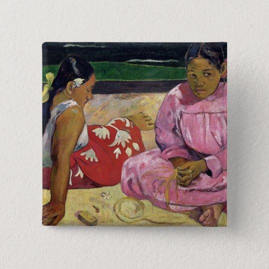 Women of Tahiti, On the Beach, 1891 Pinback Button