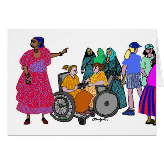 Women of the World - 3 Greeting Card