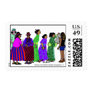 Women of the World/ 4 Postage Stamp