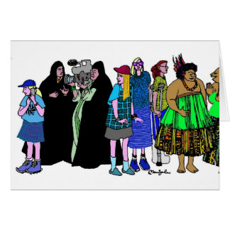 Women of the World - 5 Greeting Card