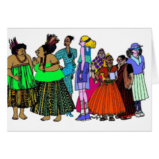 Women of the World - 6 Greeting Card