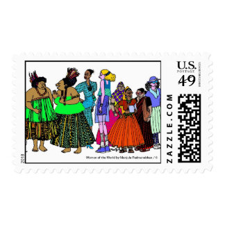 Women of the World/ 6 Postage Stamps