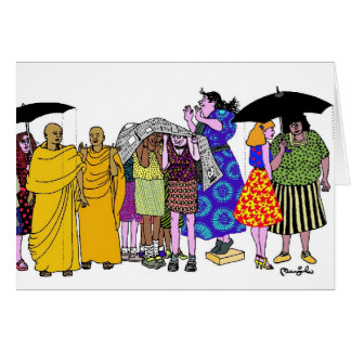 Women of the World - 8 Greeting Card