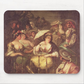 Women on a Balcony, 1859 Mouse Pad