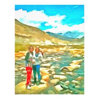Women on a tocky mountain stream letterhead