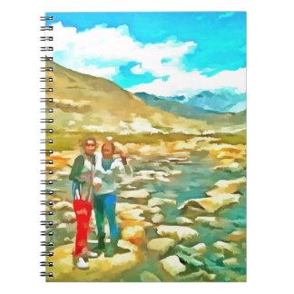 Women on a tocky mountain stream notebook