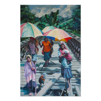 Women on the Bridge Poster