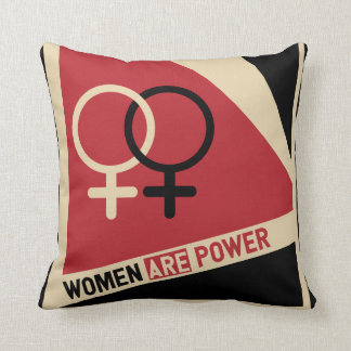 Women on the march throw pillow