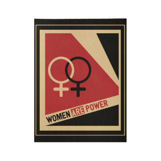 Women on the march wood poster