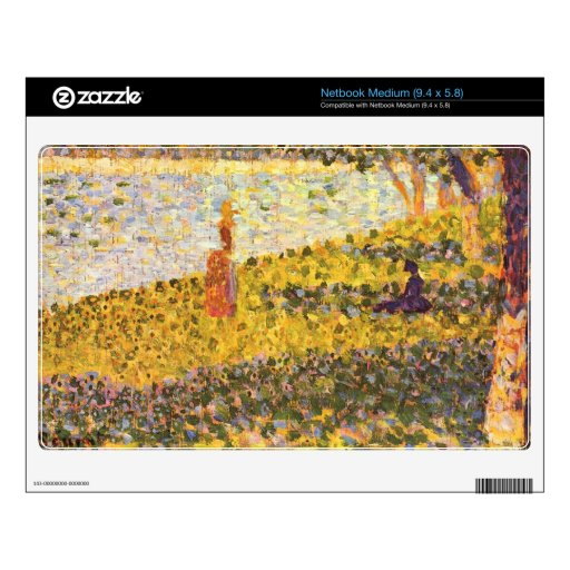 Women on the shore by Georges Seurat Decal For Netbook