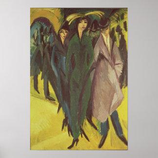 Women on the Street, 1915 Poster