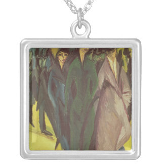 Women on the Street, 1915 Silver Plated Necklace