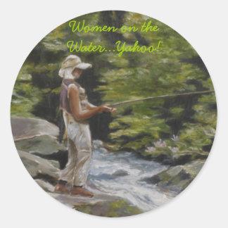 Women on the Water...Yahoo! Classic Round Sticker