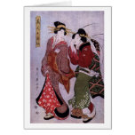 Women Out for A Walk Greeting Card