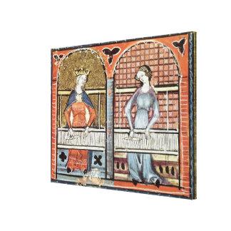 Women,Ovide Moralise written by Chretien Legouais Canvas Print