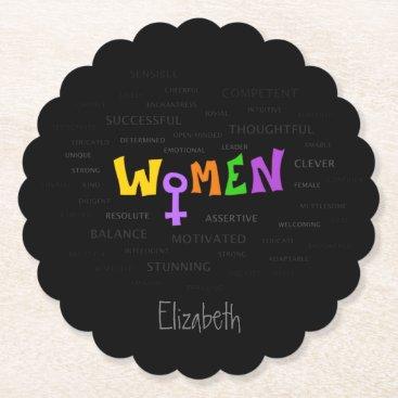 Women Paper Coaster