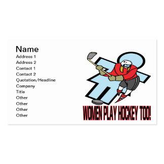 Women Play Hockey Too Business Card
