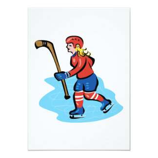 Women Play Hockey Too Card