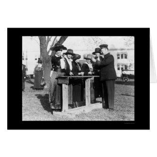 Women Police Officers and Guns 1914 Greeting Cards