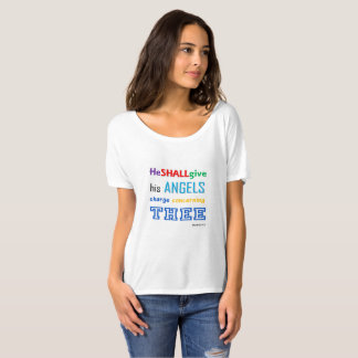 Women Positive Thinking Tee (HE SHALL GIVE HIS ANG