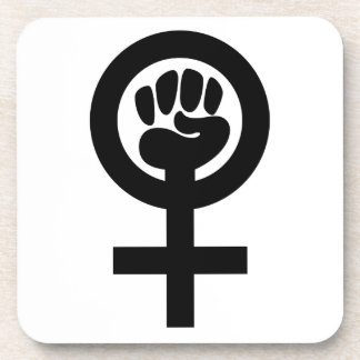Women Power Symbol Beverage Coaster