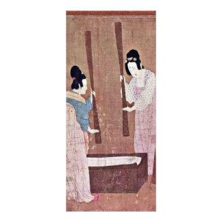 Women Preparing Silk By Emperor Huizong Best Qual Full Color Rack Card