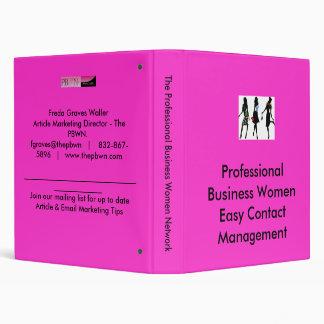 women, Professional Business Women Easy Contact... 3 Ring Binder