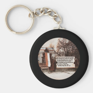 Women Protest at White House Basic Round Button Keychain