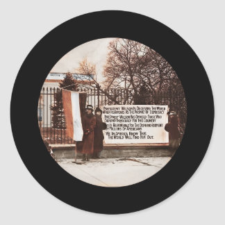 Women Protest at White House Classic Round Sticker