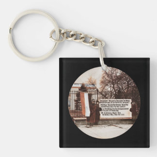 Women Protest Wilson at White House Single-Sided Square Acrylic Keychain