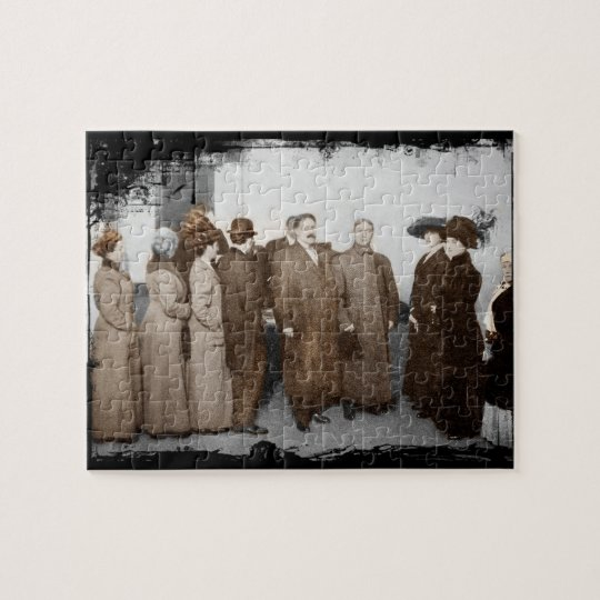 Women Registering to Vote Jigsaw Puzzle