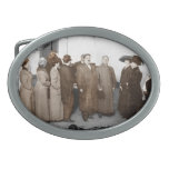 Women Registering to Vote Oval Belt Buckle