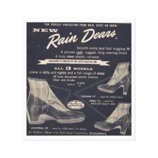 Women & Reindeers love Rain Dears - So Vintage Canvas Print