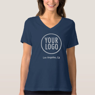 Women Relaxed V-Neck T-Shirt Custom Company Logo
