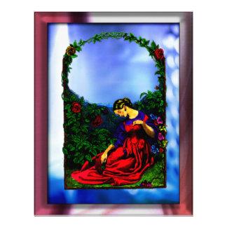Women resting in rose garden Letterhead