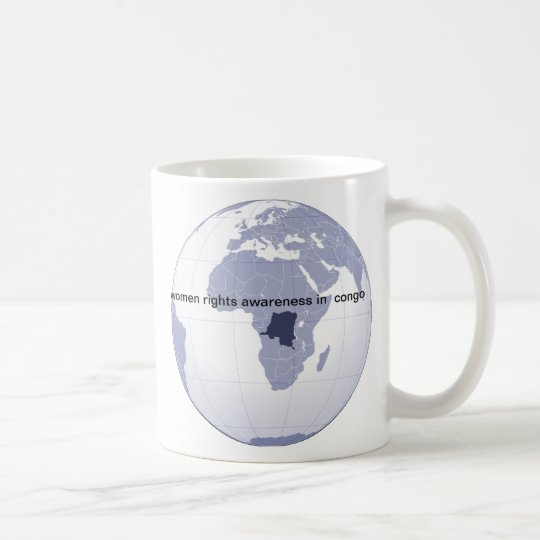 women rights awareness in congo, africa coffee mug