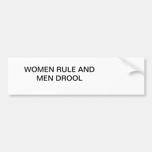 WOMEN RULE BUMPER STICKERS