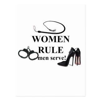 WOMEN RULE MEN SERVE POSTCARD