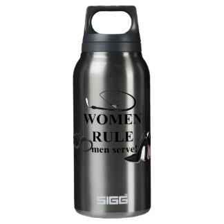 WOMEN RULE MEN SERVE THERMOS WATER BOTTLE