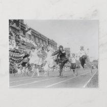 Women Running Low Hurdles Postcard