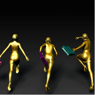 Women Running to a Sale Event Special Statuette