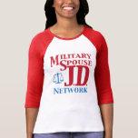 Women's 3/4 inch sleeve MSJDN shirt