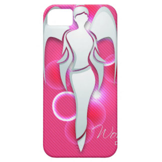 Women's day,white woman angel on pink iPhone SE/5/5s case