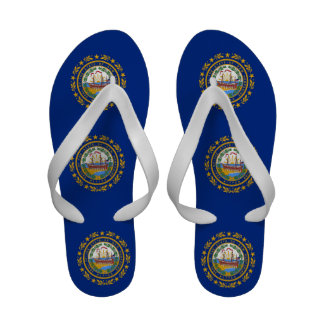 Women s Flip Flops, with Flag of New Hampshire