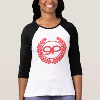 Women s GenePool Olive Wreath Logo Raglan Tshirt