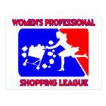 Women's Professional Shopping League Postcard