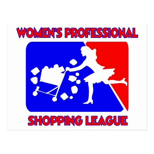 Women s professional shopping league postcard zazzle for How to be a professional shopper