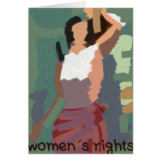 Women´s rights card